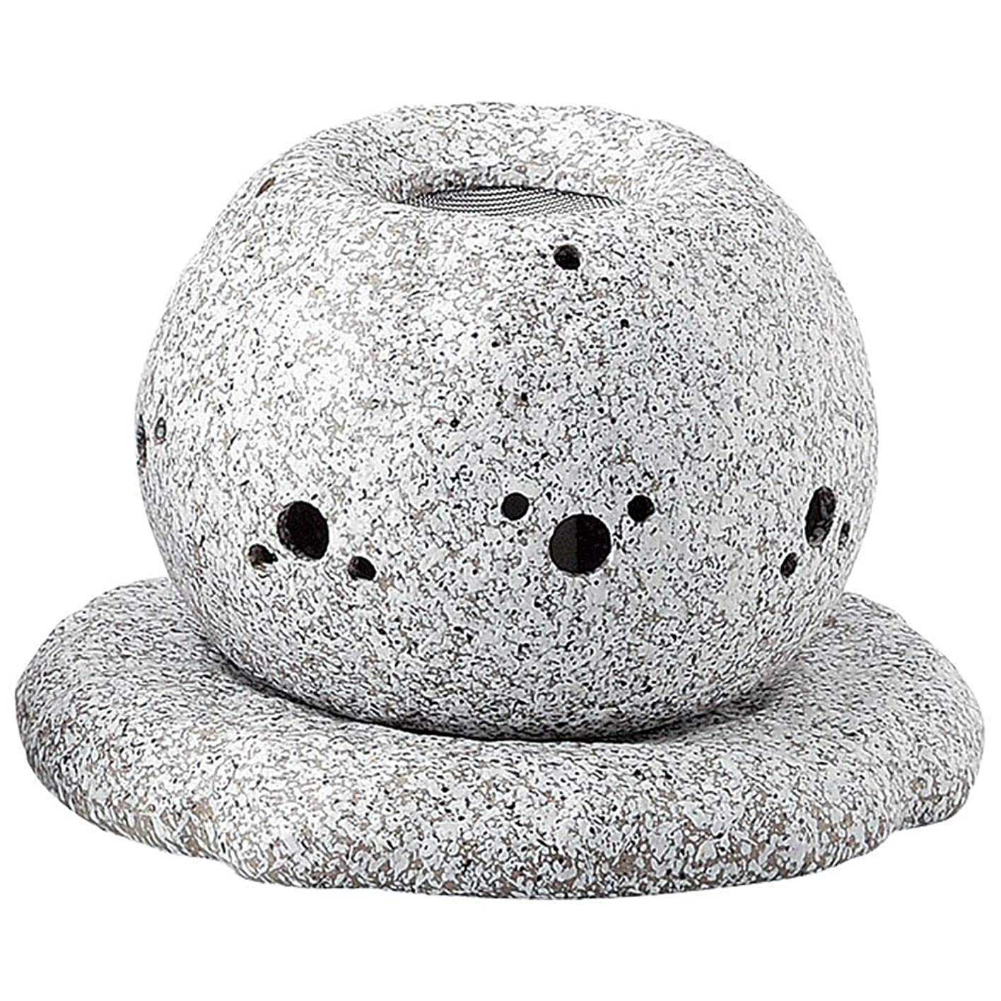 概念囚人モールス信号YI--Y-1628 常滑焼 電気式茶香炉 径14×高さ11.5cm