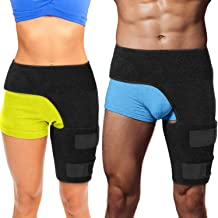 Hip Brace Thigh Compression Sleeve – Hamstring Compression Sleeve & Groin Compression Wrap for Hip Pain Relief. Support for Hip Replacements, Sciatica, Quad Muscle Strains Fits Both Legs (LG/Left)