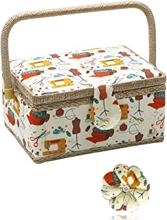 D&D Caja de Costura, Kit de Costura para casa y Viaje,