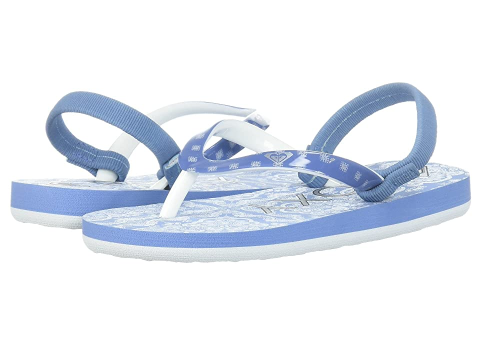 Roxy Kids Pebbles VI (Toddler) (Blue/White) Girls Shoes