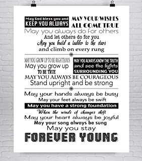 Forever Young Print, Bob Dylan Lyric Fine Art Print, 8x10-24x36 **Unframed**