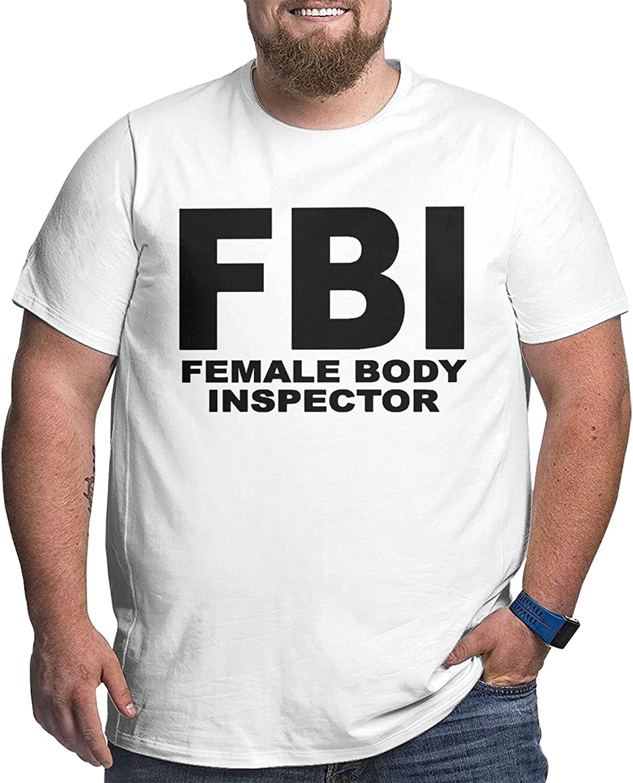 FBI Female Body Inspector Men's Simple Big Size Summer Outdoor Short Sleeve Round Collar Tee
