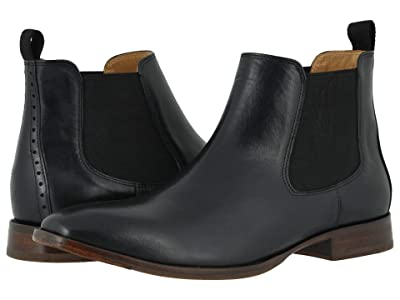 Johnston & Murphy McClain Chelsea Boot (Black Full Grain) Men