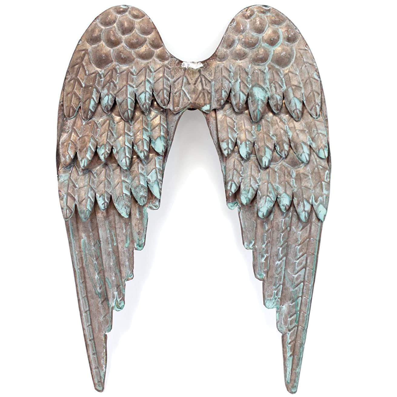 Copper Patina Metal Angel Wings 8