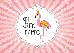 """Edition Colibri 10 Invitaciones en español """"Princesa Flamenca"""": Juego de 10 Invitaciones cumpleaños Infantil / Fiesta para niñas (11006 ES)"""
