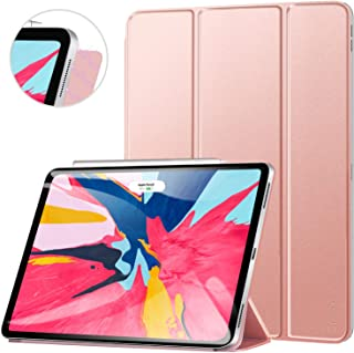 ZtotopCase for iPad Pro 12.9 Inch 2018, Strong Magnetic Ultra Slim Minimalist Smart Case, Trifold Stand Cover with Auto Sleep/Wake for iPad Pro 12.9 Inch 2018 Release (3rd Gen), Rose Gold