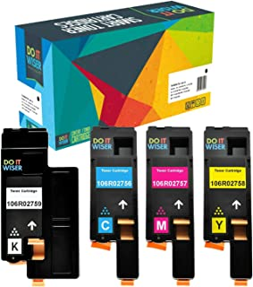 Do It Wiser Compatible Toner Cartridge Replacement for Xerox WorkCentre 6027 6025, Phaser 6022 6020 (1 Black 106R02759, 1 Cyan 106R02756, 1 Magenta 106R02757, 1 Yellow 106R02758) - 4 Pack