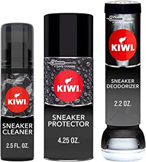 KIWI Sneaker Care Kit - Cleans Shoes, Repels Stains and Removes Odors. 3-Step Sneaker Care System (Pack of 2)