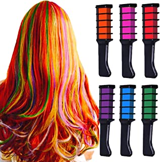 Temporary Hair Chalk Birthday Gifts for Girls, MSDADA Kids Hair Color Dye, Non-Toxic Washable Metallic Glitter Hair Chalks for Birthday Party, Cosplay, Concert, Gifts for Girls Kids & Adults