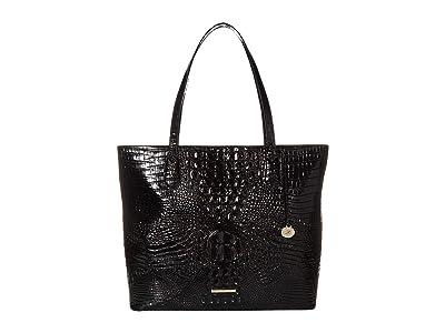 Brahmin Melbourne Misha Tote (Black) Tote Handbags