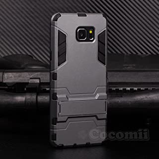 Cocomii Iron Man Armor Galaxy Note 5 Case New [Heavy Duty] Premium Tactical Grip Kickstand Shockproof Bumper [Military Defender] Full Body Dual Layer Rugged Cover for Samsung Galaxy Note 5 (I.Gray)