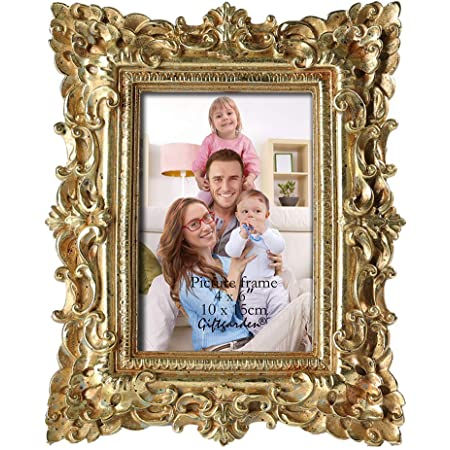 Amazon Com Giftgarden 5 X 7 Inch Vintage Picture Frame Gold For Photo 5x7