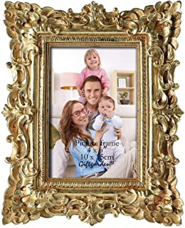 Best Gift Garden Friends Gift Gold Vintage Picture Frame 4 by 6 Inch in hand Painted for Photo Display 4x6 Review