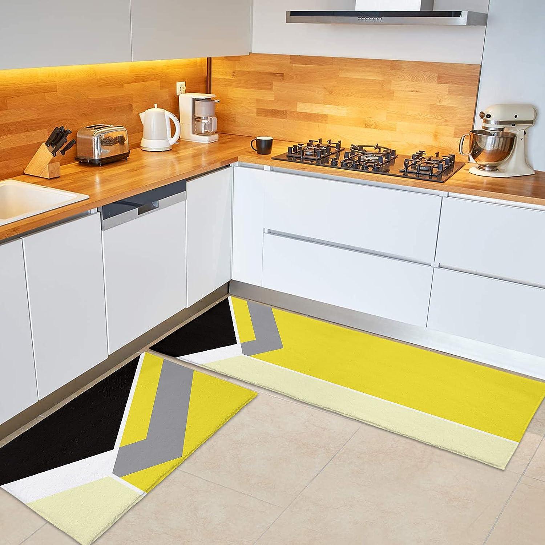 OUR DREAMS Direct sale of manufacturer Kitchen Rug Set 2 Runner Plush Microfiber Pieces Product Bath