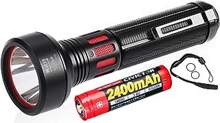 Professional High Beam Flashlight Super Bright with 2400mah 18650 Battery Waterproof IPX8 Small Tactical Flashlight Military Grade 900 Lumen Mini Pocket Police Handheld CR123A edc Camping Torch Light