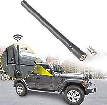 JeCar 7.5Inch Stubby Reflex Short Antenna Replacement JK JL Accessories Metal ABS Antenna Designed for Optimized FM/AM Reception for Jeep Wrangler JK JL Unlimited Sport Rubicon Sahara 2007-2019 Black