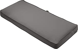 Classic Accessories Montlake Bench Cushion Foam & Slip Cover, Light Charcoal, 48x18x3