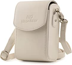 MegaGear MG1414 Leather Camera Case with Strap compatible with Panasonic Lumix DC-ZS70, DMC-LX10, DMC-ZS60, DMC-ZS100, DMC-LX15, DC-TZ95, DC-TZ90, DMC-TZ80, DMC-TZ100 - White