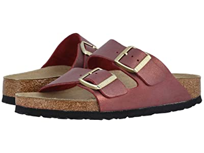 Birkenstock Arizona (Washed Metallic Port Leather) Women