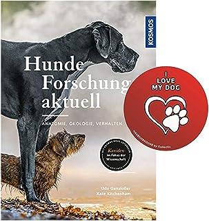 Kosmos hundforskning ny: Anatomi, ekologi, beteende bundet bok + 'I Love My Dog' klistermärke av Collectix
