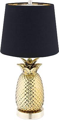 Navaris Lampe LED E27 Ananas - Lampe de Chevet Veilleuse 40cm avec Intensité Variable et Design Ananas - Lampe de Table Décorative Salon Chambre
