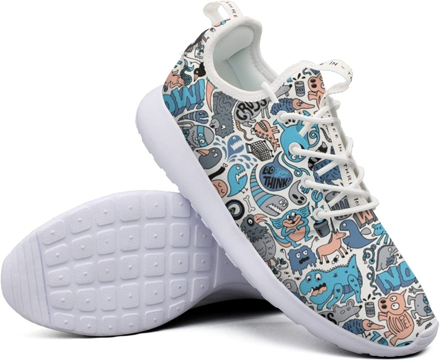 Attractive Women All The Animals In The World colorful New Jogger Running shoes