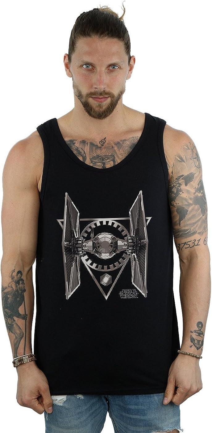 STAR WARS Men's The Last Jedi Tie Fighter Tank Top XX-Large Black