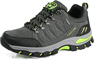 WOWEI Hiking Boots Lace-up Waterproof Non-Slip Outdoor Sports Men Women Mountain Trekking Shoes for All Season Walking Tra...