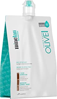 MineTan Spray Tan Solution - Olive Pro Spray Mist - Salon Professional 1 Hour Express Tan For A Natural Olive Bronze Tan, 33.8 fl oz