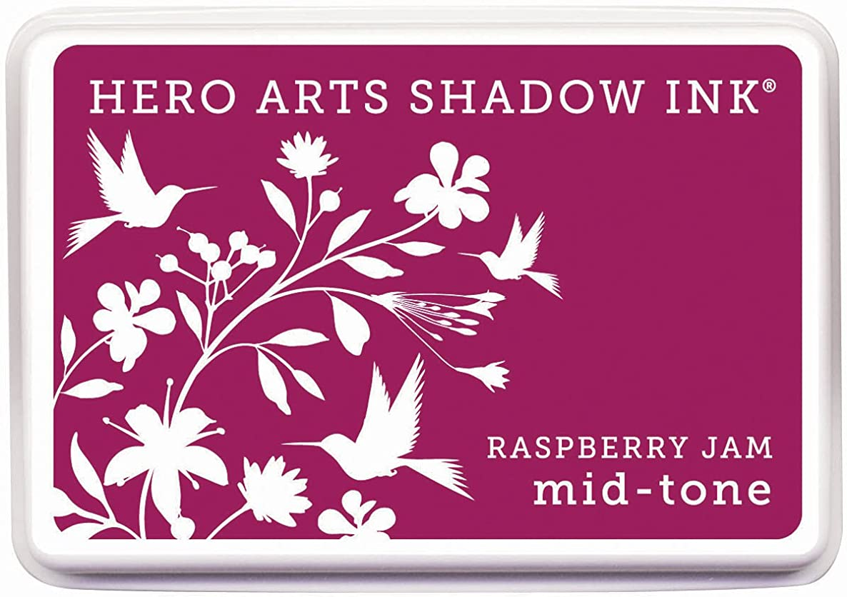 Hero Arts Rubber Stamps AF228 Stamps Mid-Tone Shadow Ink Stamp Pad, Raspberry Jam