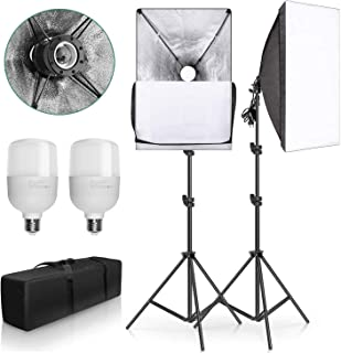 "YISITONG 20""X28"" Softbox Photography Lighting Kit 2X 25W Continuous Lighting System Photo Studio Equipment Photo Model Por..."