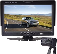 "$54 » LeeKooLuu Backup Camera and 7"" Monitor Easy Installation Parking/Driving Observation System for Cars,SUVs,Pickups,Trucks,Motorhomes,Bus,Vans Rear/Front View IP68 Waterproof Super Night Vision"