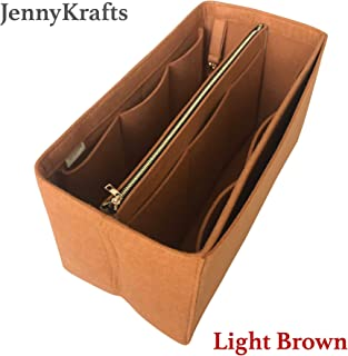 9ffd81aad5 JennyKrafts Purse Insert (3mm Felt, Detachable Pouch w/Metal Gold Zip),