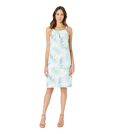 Tommy Bahama Leinani Leaves Halter Dress (White) Women