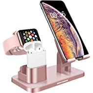 BENTOBEN 3-in-1 Charging Stand, Universal Charging Dock Station Compatible with Airpods Apple...