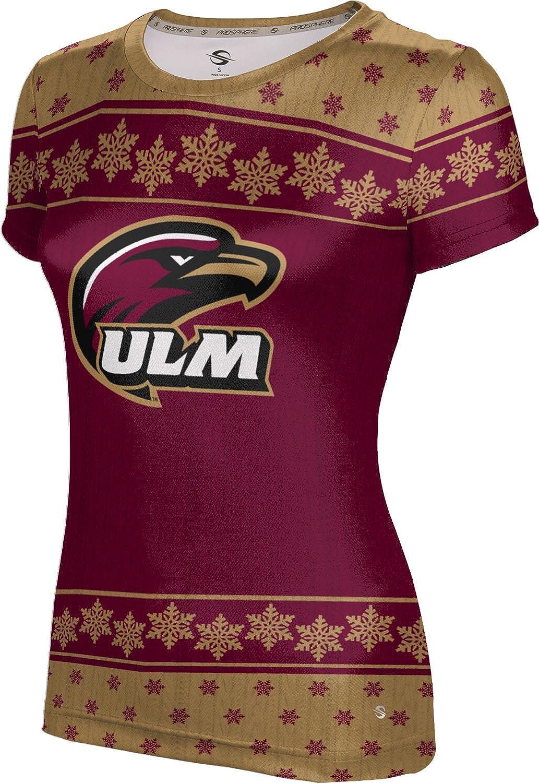 University of Louisiana at Monroe Ugly Holiday Girls' Performance T-Shirt (Snowflake)