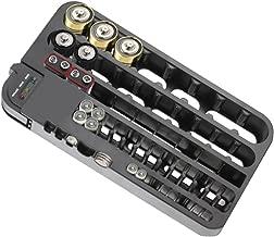 72 baterías con Capacidad para Grandes Pilas Organizador de plástico y comprobador extraíble AA AAA Caja de Almacenamiento de batería