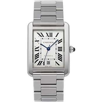 Cartier Tank Solo Mechanical (Automatic) Silver Dial Mens Watch W5200028 (Pre-Owned)