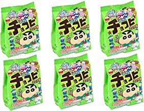 Orion Chocobi, Crayon Shinchan cocoa Ramune candy×6. No.a446