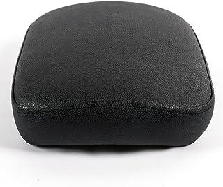 Motorcycle 6 Suction Cup Seat Black Rectangular Pillion Passenger Pad for Custom Chopper Cruiser
