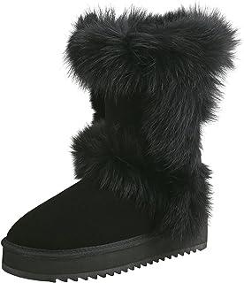 Shenduo Scarpe Donna Invernali - Stivali da Neve Caldo con Tacco Zeppa Piattaforma D9256