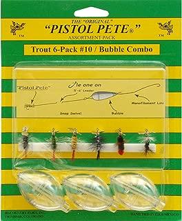 Pistol Pete Trout with Bubbles (6-Pack), Size-10