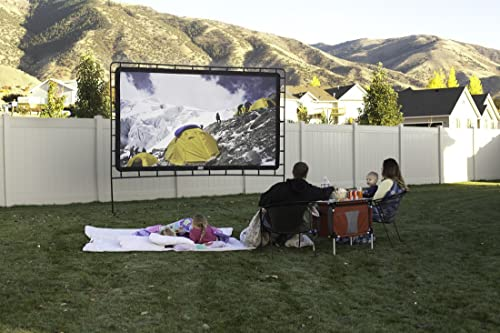 Camp Chef Outdoor Entertainment Gear 144 inch, 16:9 Ultra-Sharp, Silver-Infused Projector Screen with Durable, Easy S...