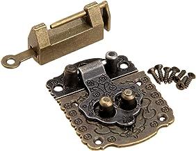 Lock Klink Hasp +2 stuks/kit kabinet Scharnieren Antiek Brons Vintage Houten Doos Case Kast Toggle Furniture Hardware Fitt...