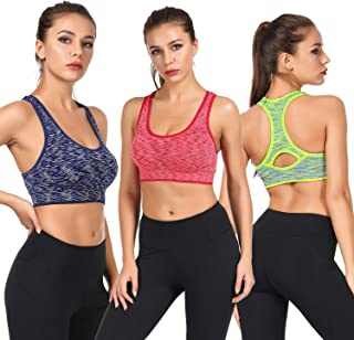 Sports Bras for Women,Removable Padded Bras Seamless for Yoga Gym Fitness Activewear Workout Bra