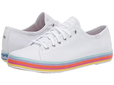 Keds x kate spade new york Kickstart Rainbow Foxing (White Multi) Women