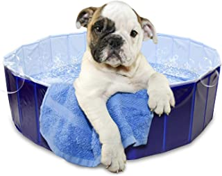 MiMu Pet Swimming Pool Collapsible Dog Pool – Kiddie Pool, Baby Pool, Dog Bath Wading Pool – Kiddy Pools Baby Pools