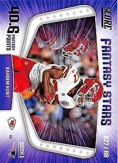 2018 Score Fantasy Stars #1 Kareem Hunt Kansas City Chiefs Football Card