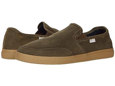 Sanuk Vagabond Slip-On Sneaker LX (Dark Olice) Men