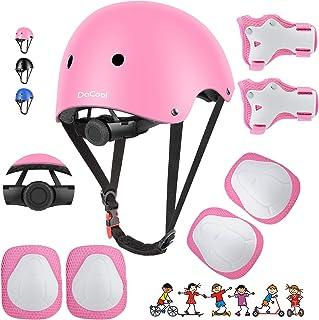 DaCool Kids Bike Helmet Set Skateboard Knee Pads – Kids Helmet Elbow Pads Wrist..